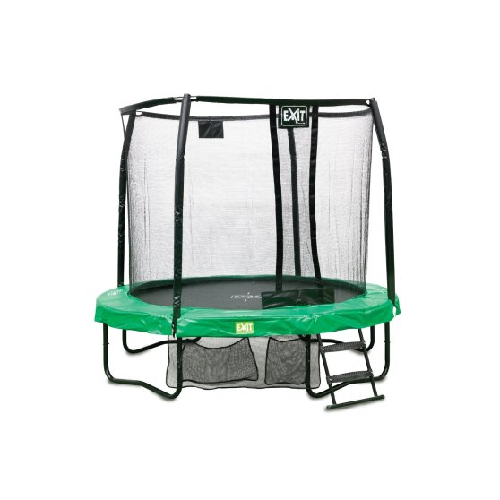 10.91.08.02-exit-jumparena-trampoline-o244cm-with-ladder-and-shoe-bag-green-grey