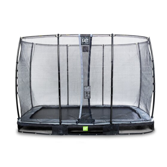 EXIT Elegant ground trampoline 214x366cm with Economy safety net - black
