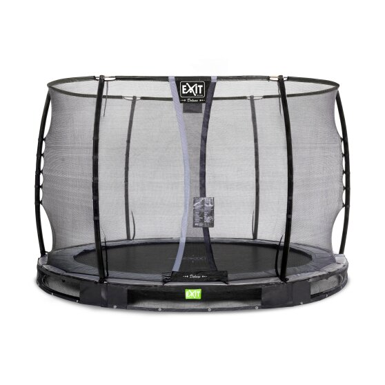 EXIT Elegant Premium ground trampoline ø305cm with Deluxe safety net - black