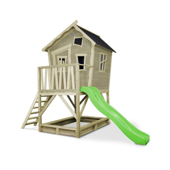 EXIT Crooky 500 wooden playhouse - grey-beige