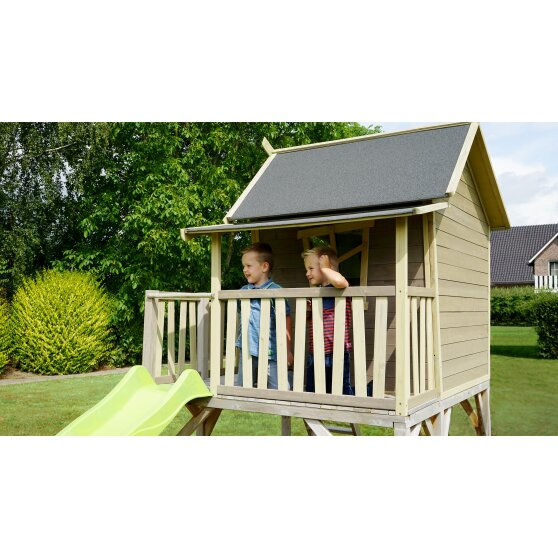 EXIT Crooky 550 wooden playhouse - grey-beige