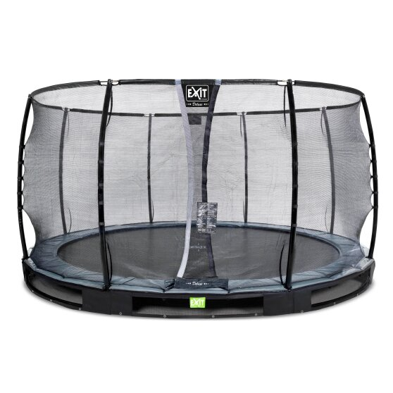 EXIT Elegant Premium ground trampoline ø427cm with Deluxe safety net - black