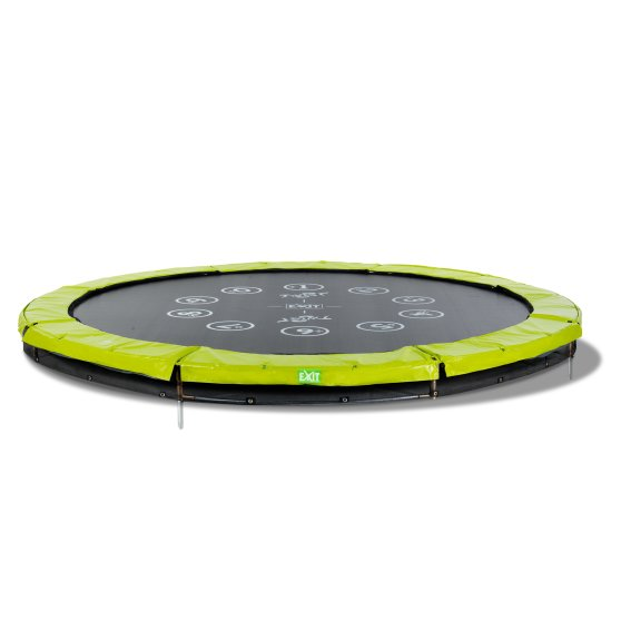 12.61.10.01-exit-twist-ground-trampoline-o305cm-green-grey