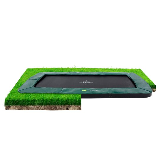 EXIT InTerra ground-level trampoline 244x427cm - green