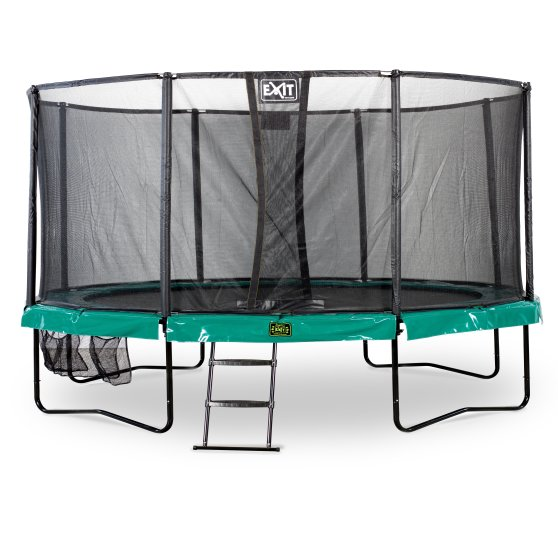 10.71.15.00-exit-supreme-trampoline-o457cm-with-ladder-and-shoe-bag-green