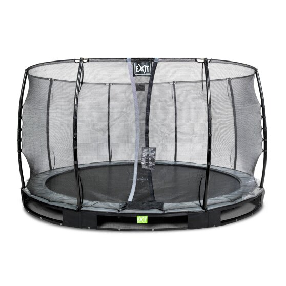 EXIT Elegant ground trampoline ø366cm with Economy safety net - black