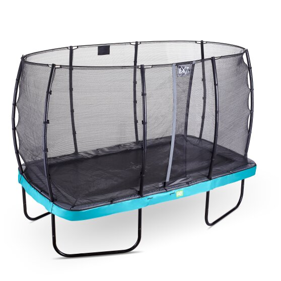 EXIT Elegant trampoline 244x427cm with Economy safetynet - blue