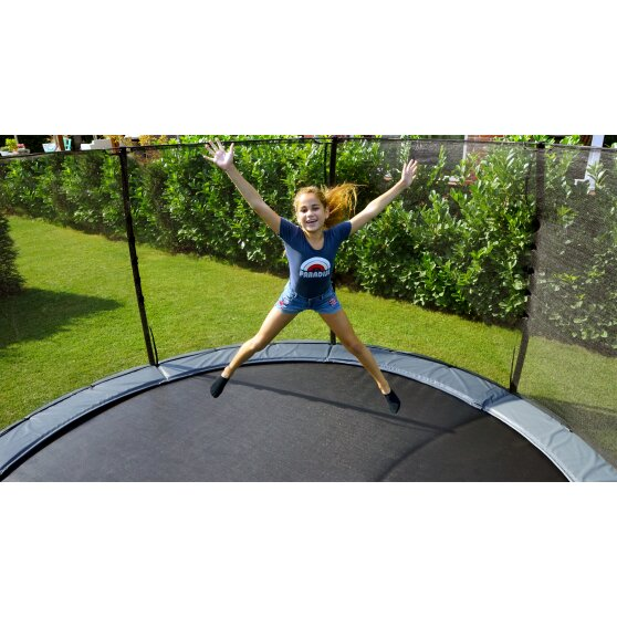 EXIT Elegant ground trampoline ø305cm with Economy safety net - green