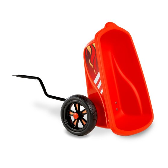 EXIT Foxy Fire pedal go-kart with trailer - red